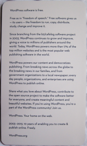 Note Found in 10th Anniversary Book WordPress Book