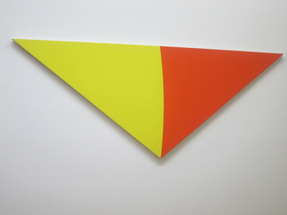 Ellsworth Kelly yellow and orange painting in Paris