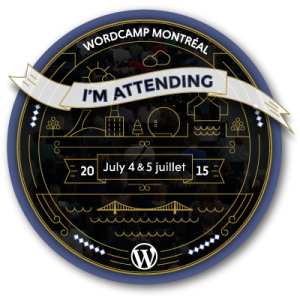 WordCampMontreal 2015 Attending Badge